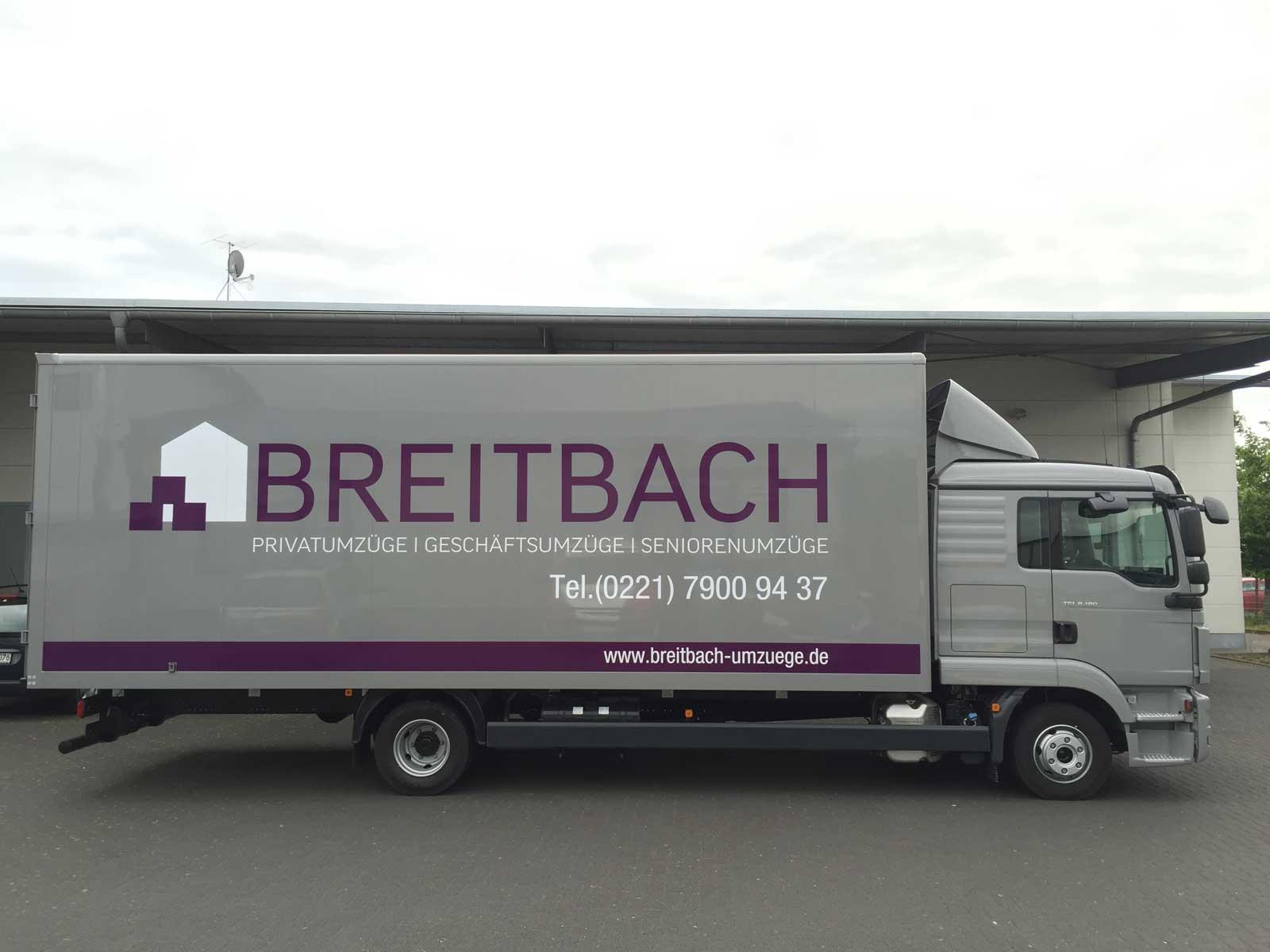 Breitbach Umzüge signdicate folierungen aller